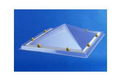 SKYLUX Lichtkoepel Piramyde vormig Acryl Opaal Dubbelwandig 40x40cm