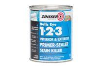 ZINSSER Bulls Eye 1-2-3 Grondverf Wit 1Ltr