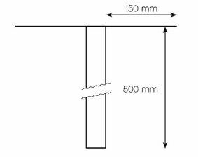 epdm hwa alu manchet 150mm ø63mm 300mm