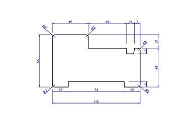 Meranti Kozijnprofiel Stijl AA+ PEFC 67x114x3650mm