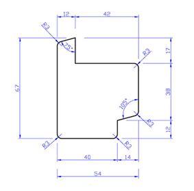 hardhout raamprofiel rp3 55x67x3050