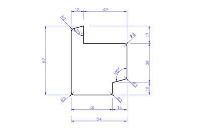 Raamprofiel Hardhout Stijl RP3 (Dubbelglas) 54x67x3050mm