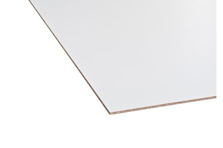 spaanplaat 100gr gemelamineerd wit ce 70%pefc 3050x1250x18