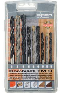 alpen metaal-steen-hout set t/m8mm 9-delig