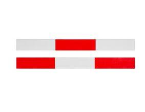 vuren c geschaafd schrikplank rood/wit  22x150x5100