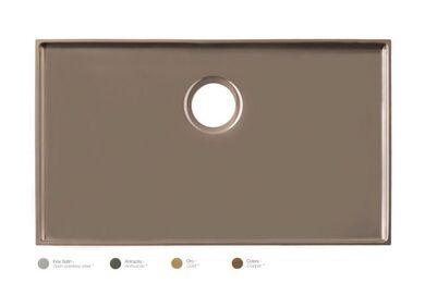 Krion Solid Surface Spoelbak SC811 RVS Satin 700x400x41mm