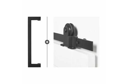 skantrae hang- en sluitwerkpak hsp516 schuifdeursysteem  foxtrot greep biloxi zwart