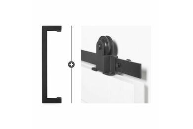 SKANTRAE Hang- en Sluitwerkpakket HSP516 Schuifdeurbeslag Foxtrot Biloxi Zwart T.B.V. SSL Series