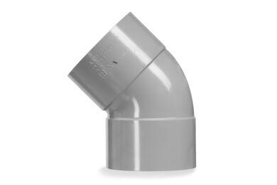 MARTENS PVC Bocht 2x Lijmmof 45° 50mm