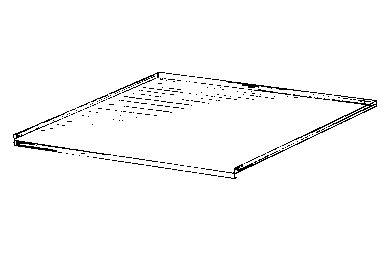 BRUYNZEEL Aluminium Bodem Tbv Gootsteenkast 500mm
