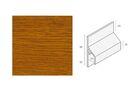 KERALIT Trimkraal Aansluitprofiel 10mm Golden Oak Classic Nerf