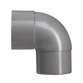 hwa bocht 90° 70mm vernauwd spie eind grijs