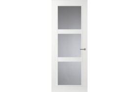 comfidoor lijndeur mila 2315x730mm opdek rechtsdraaiend helder glas loopslot