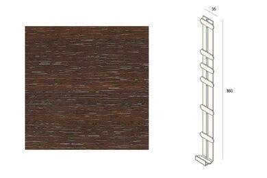 KERALIT 2848 Dakrand Tussenstuk 350mm Mahonie Classic Nerf