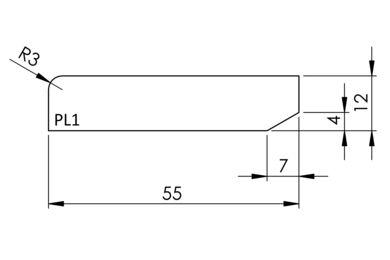 Plint Q-Pine Grenen Recht wit Afgelakt FSC 12x55x4800mm