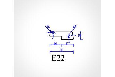 Meranti Glaslat GL16 Gegrond FSC 12x33x4000mm