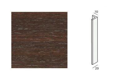 KERALIT Eindprofiel 2836 2097013 Mahonie Classic nerf Fiberyl 4000mm