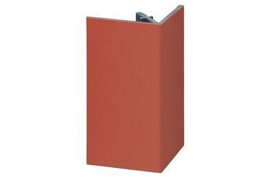 KERALIT 2812 Uitwendig Rechthoekprofiel Steenrood Classic Nerf 46x46x4000mm