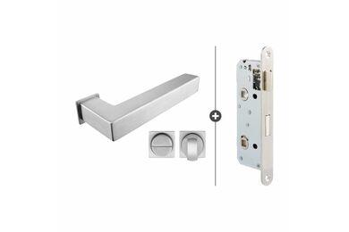 SKANTRAE Hang- en Sluitwerkpakket HSP845 WC Slot Akron RVS T.B.V. SSL Series