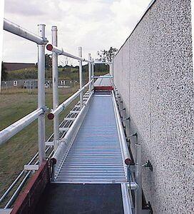 leuning/schoprand eenzijdig voor werkbrug 6000mm