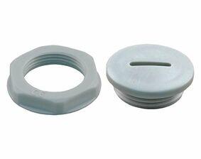 wartelmoer met blindstop grijs m20 (set van 10 stuks)
