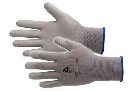 handschoen maat 9 pu wit 12st