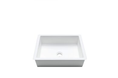 Krion Solid Surface Spoelbak B811 E Snow White 376x276x120mm