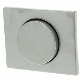 berker k5 centraalplaat +knop dimmer rvs
