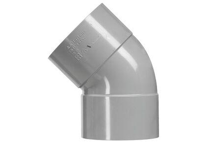 pvc lijm-bocht 45° mof/mof