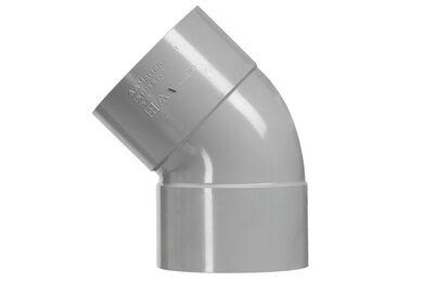 MARTENS PVC Bocht 2x lijmmof 45° 125 mm