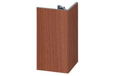 KERALIT 2812 Uitwendig Rechthoekprofiel Californian Redwood Classic Nerf 46x46x4000mm