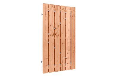 Doornik Tuindeur Recht op staal frame incl slot Hout Lariks FSC 900x1800mm