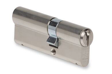 BUVA ProfielCilinder Dubbele Cilinder  15mm Verlengd 2002/6 Messing Zilverkleurig SKG2