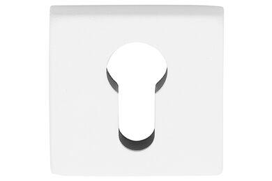 SKANTRAE Cilinderrozet Vierkant Houston square RVS Wit