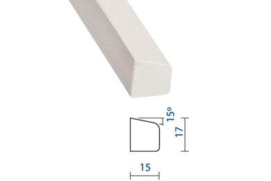 Meranti Glaslat GL5 Gegrond FSC 17x15x4000mm