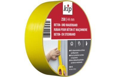 KIP Steenband Verwijderbaar Geel 258-43 44mmx50m