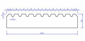 grenen vlonderplank geschaafd geprofileerd l30 druk geïmpregneerd 28x145x4000