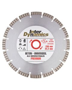 id duopack beton/universeel 10x2,6x22,2mm 2 stuks