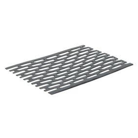 heering platprofiel zwart 1634 geperforeerd 30x2x5000