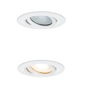 paulmann led nova 7w ip65 wit gu10 93mm zwenk+dimbaar 3st