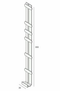 keralit tussenstuk 2848 staalblauw 5011 350mm