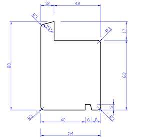 hardhout raamprofiel rp4 55x80x3050