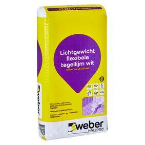 weber.col lc220 lichtgewicht tegellijm wit