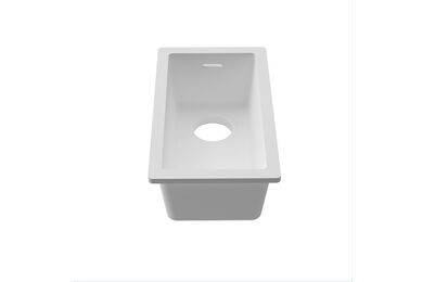 Krion Solid Surface Spoelbak C834 E Solid Surface Snow White 200x400mm