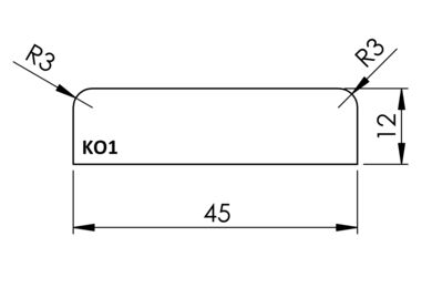 Koplat Q-Pine Grenen Recht Afgelakt FSC 12x45x4800mm