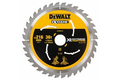 DEWALT DT99569-QZ Cirkelzaagblad Xtreme Runtime 36-tands 216x30mm