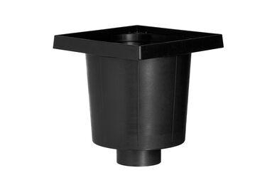 MARTENS W-flex Afvoerput W Onderuitlaat Polypropyleen Zwart 200x200x75mm