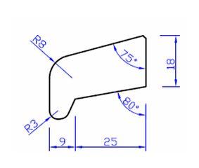 meranti glaslat e8 80mu gegrond  13x32x4000