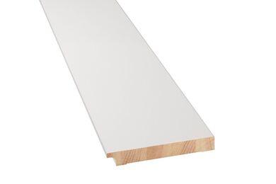 Q-Pine Grenen Plint Recht wit Afgelakt FSC 18x120x4800mm 2pp.