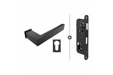 SKANTRAE Hang- en Sluitwerkpakket HSP824 Cilinderslot Lenox Zwart T.B.V. SSL Series